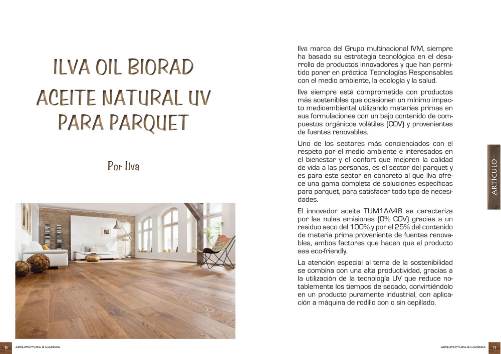 Ilva Oil Biorad aceite natural UV para parquet